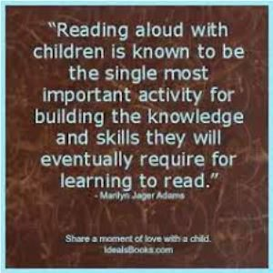 Encouraging you to enjoy reading with a child on near a river.