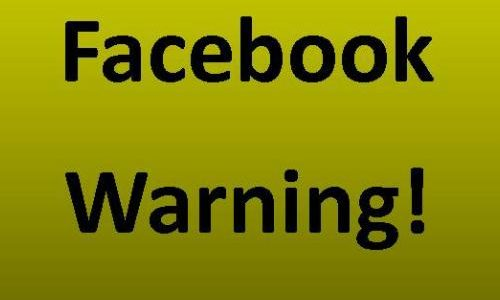 Encouraging you to heed this facebook warning on near a river.