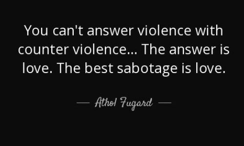 answer to violence