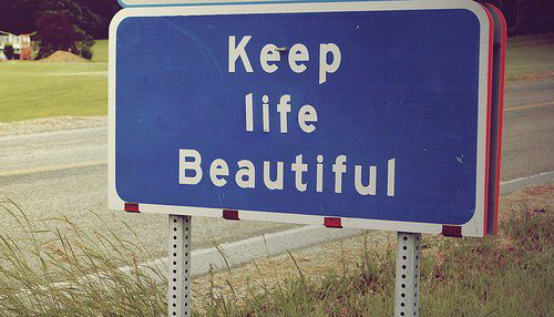 Encouraging you to have a beautiful life on near a river.