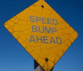 Encouraging you to get over any speed bumps in life on Near a River.