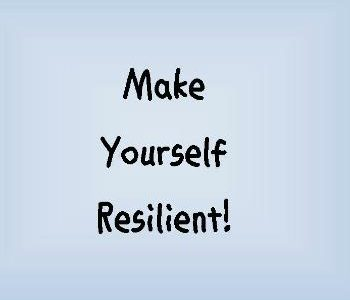 Encouraging you to make yourself resilient on near a river.