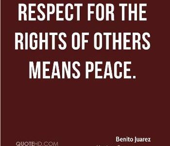 Encouraging you to respect others' rights on near a river.